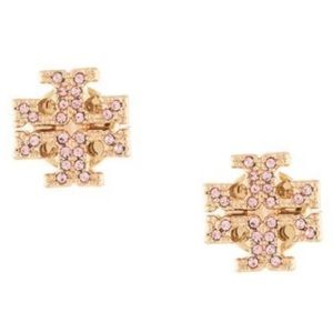 NWOT Tory Burch Crystal Logo Stud Earring